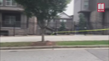 The shooting scene at the Stadium Village Apartments in Kennesaw