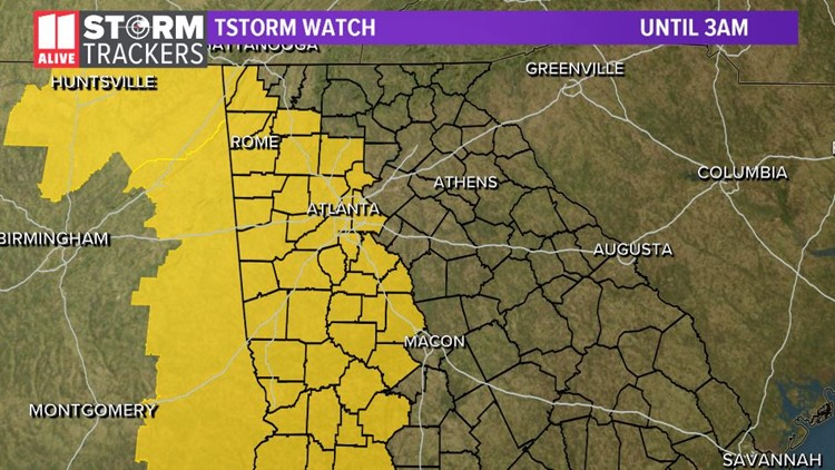 Tstorm watch until 3am Friday