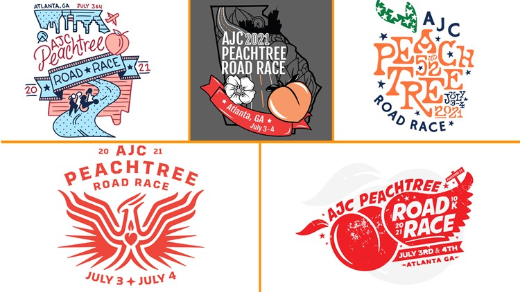 Voting begins for 2021 AJC Peachtree Road Race T-shirt contest