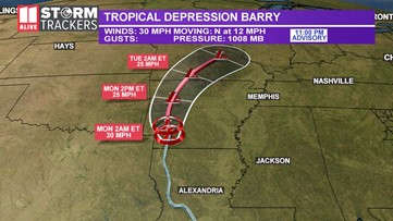 Tropical Storm Barry: Stats, storm track and more