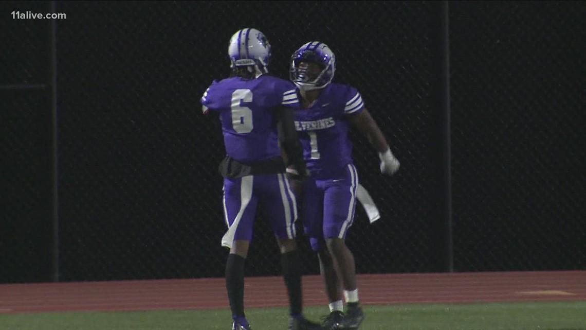 Team 11 Helmet Sticker: Jayden Brown's 4 touchdowns lead Miller Grove to win