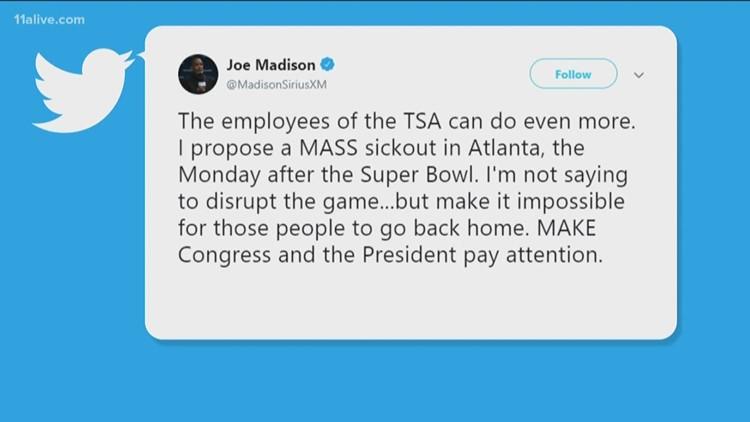 Radio Host Calls For TSA Sick Out After Super Bowl In Atlanta
