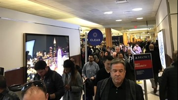 Extended security wait times greeting travelers at Hartsfield-Jackson Airport in Atlanta