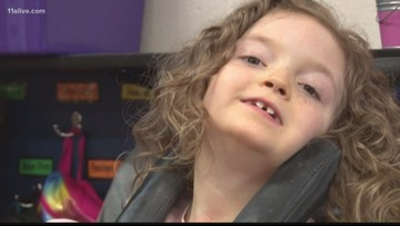 Metro Atlanta girl with cerebral palsy using unique device to help her communicate
