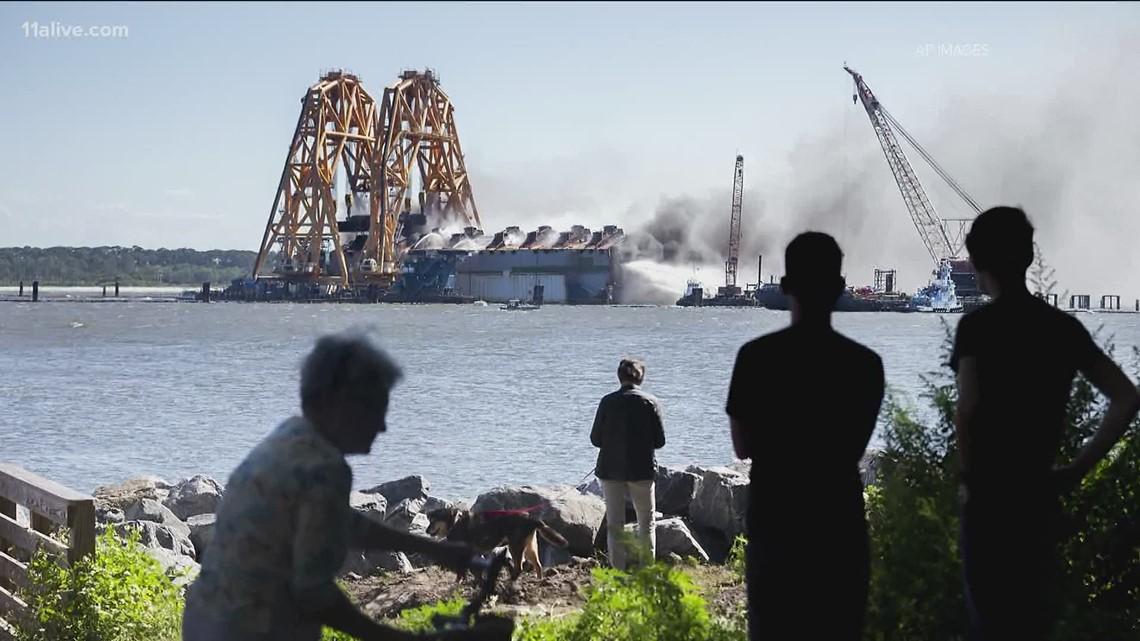 New tool to breakdown overturned cargo ship off Georgia's coast