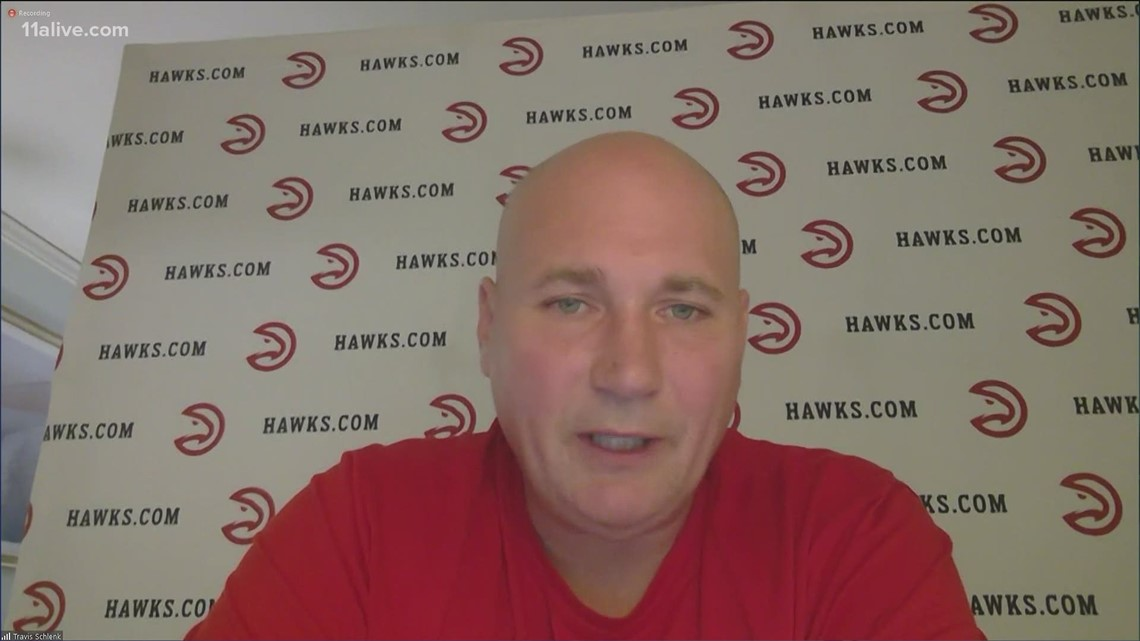 Atlanta Hawks GM Travis Schlenk speaks after reliving Lloyd Pierce of head coaching duties