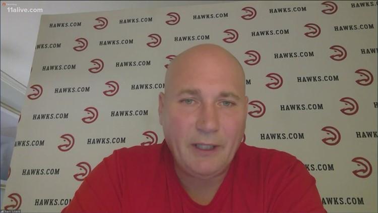 Atlanta Hawks GM Travis Schlenk speaks after reliving Lloyd Pierce of head coaching duties