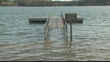 Lake Lanier water level inches closer to record high