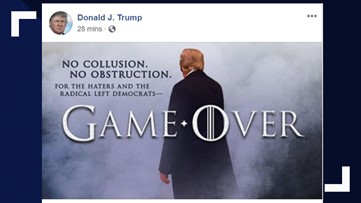President Trump taunts 'haters' with 'Game of Thrones' post after AG news conference on Mueller report