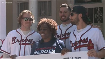 Braves surprise local woman with Community Hero Award