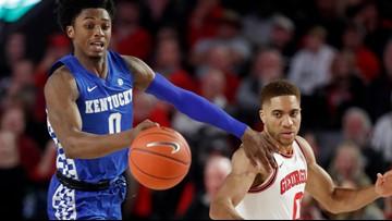 No. 14 Kentucky takes control late, beats Georgia 78-69