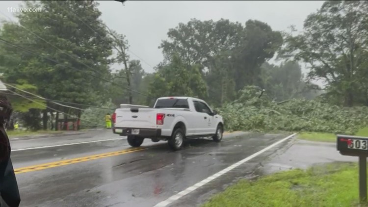 Tracking Fred   Surveying damage in Coweta County