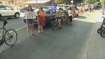 Protesters disrupt busy Atlanta street, demand city make roads safer for cyclists, pedestrians