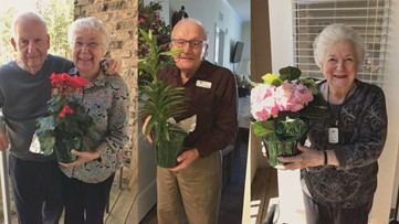 From a senior in high school to senior citizens, free flowers arrive