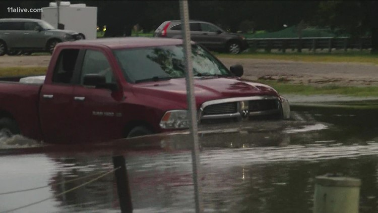 Video shows aftermath of Nicholas in Louisiana