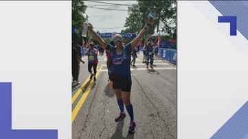 Cancer almost kept her from the race. But, she claimed victory at the finish line.