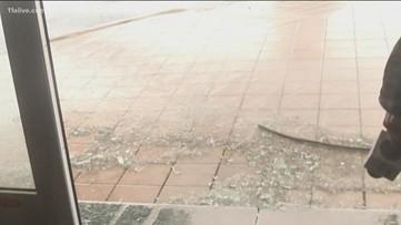 Glass window breaks during Dorian, sending photographer to hospital