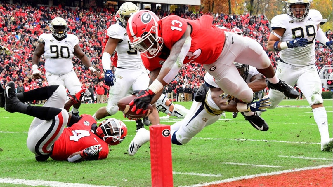 9e256d4e1dc UGA tailback Elijah Holyfield doesn t find a home on NFL Draft weekend