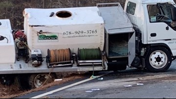 Tanker truck wreck in Paulding County causes hazardous material spill
