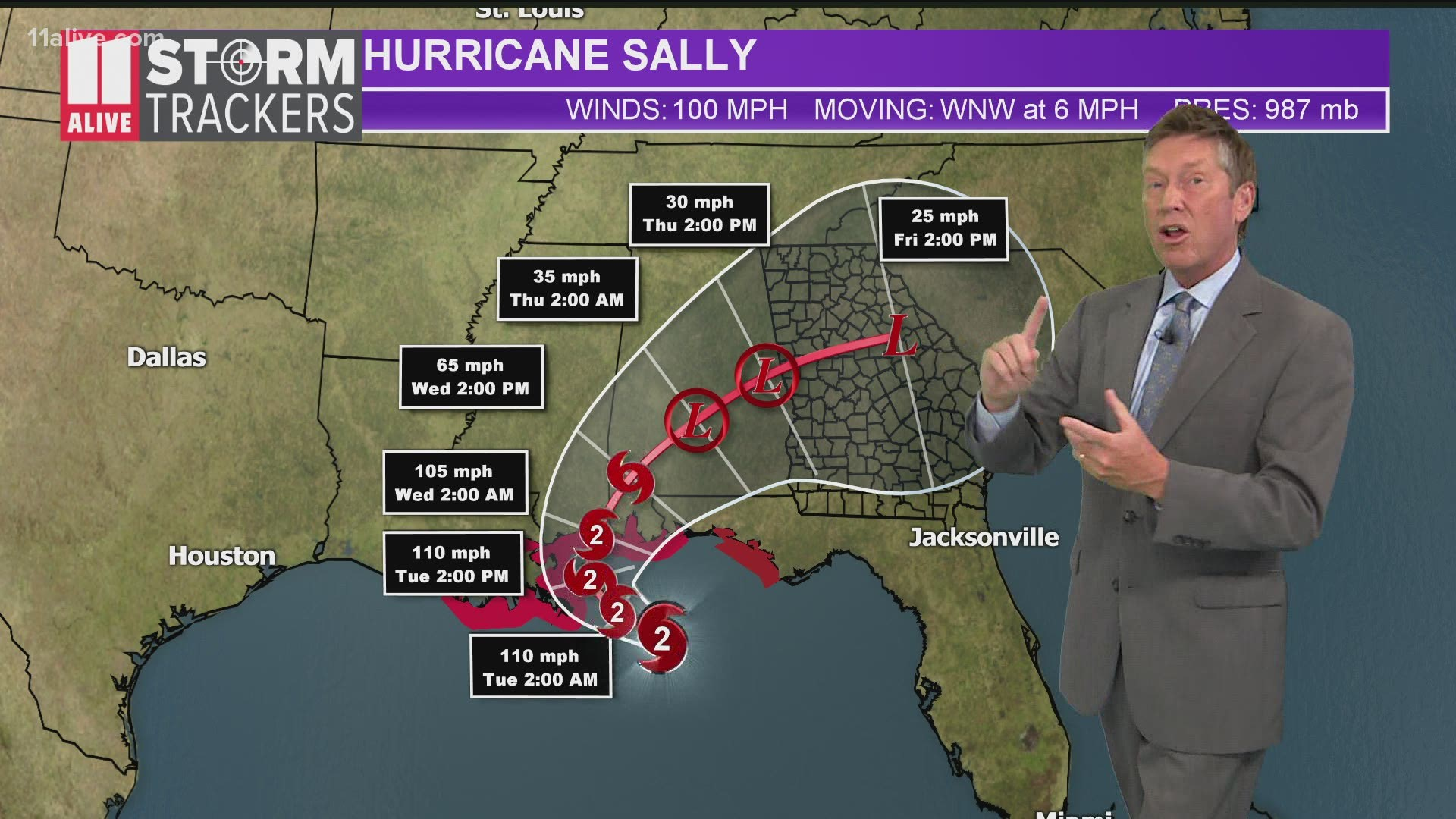 Gulf Coast Braces For Hurricane Sally 11alive Com