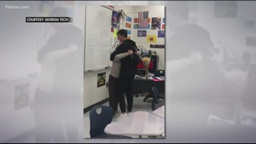 Check out this teacher's reaction to her student getting accepted into college
