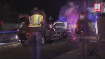 Six killed in head-on crash on I-95 in Liberty County