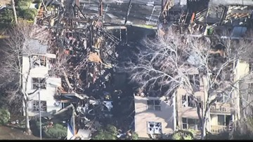 Video shows Gwinnett apartment building damaged by fire