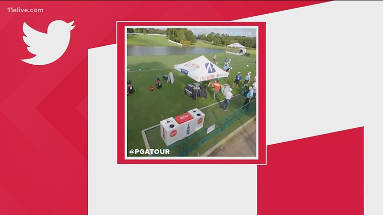Drone behind-the-scenes look of TOUR Championship at East Lake Golf Club