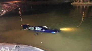 Henry County fire crews rescue driver from car submerging in pond