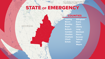 Gov. Kemp adds additional counties to state of emergency ahead of Hurricane Dorian