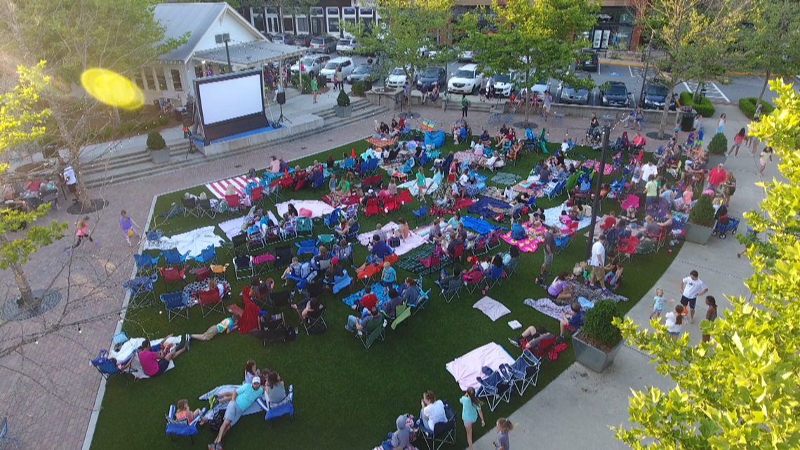 Free movies offered weekly throughout the summer