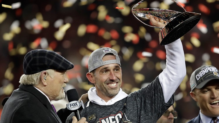 49ers Coach Kyle Shanahan reflects on Falcons' Super Bowl loss as he heads back to the big game