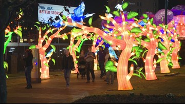 Hundreds swarm Centennial Olympic Park for Chinese Lantern Festival