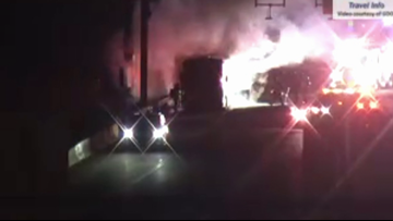Lanes reopen after bus fire shuts down I-75 on Fulton-Cobb border