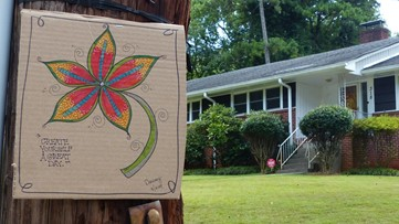 'Create yourself a great day'   Hapeville artist spreads love with his art