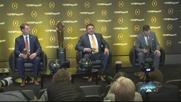 College Football Playoff Semifinal Head Coaches hold joint news conference in Atlanta