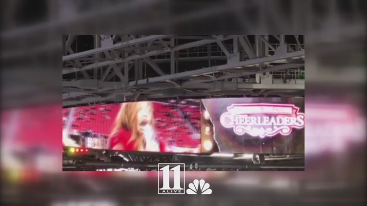 Angelica Hale belts out 'Santa Claus is Coming to Town' at Falcons game