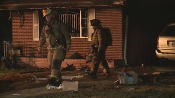 RAW: Man overcome by smoke inhalation removed from home by Atlanta firefighters