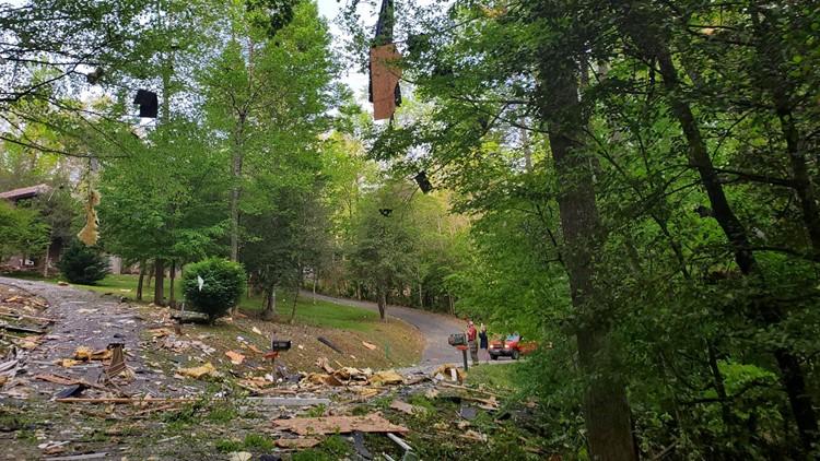 House explosion on Pauline Lane in Blairsville Georgia
