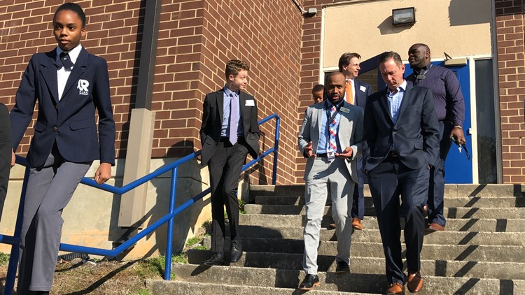 Rep. Dreyer tours the RISE Schools with Superintendent, Davion Lewis