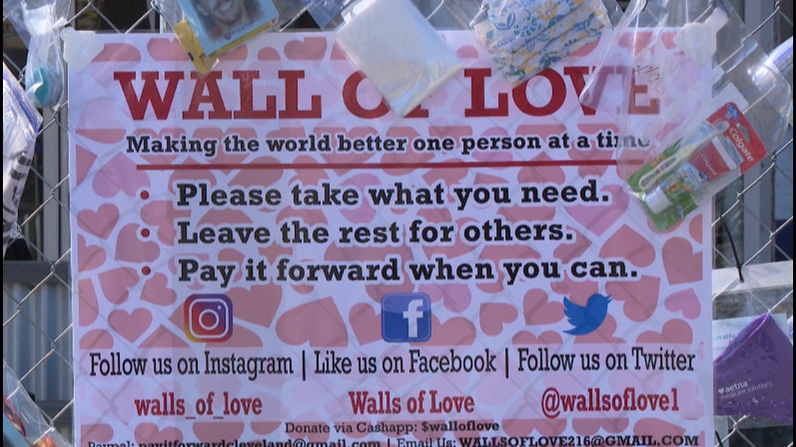 'Walls of Love' offers essential items to those in need