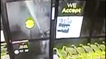 Fire extinguisher backfires on would-be dollar store burglar