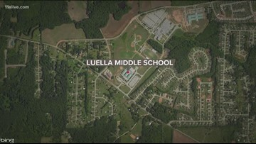 Luella Middle School placed on lockdown after student found with gun