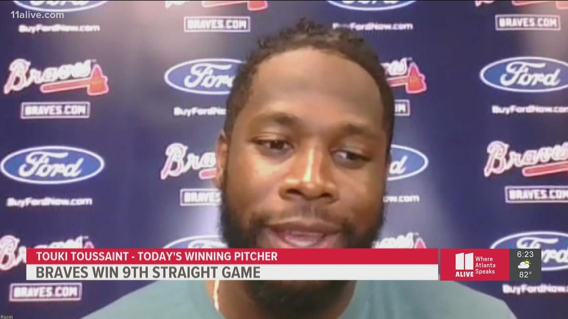 Atlanta Braves Touki Toussaint on 9th straight win