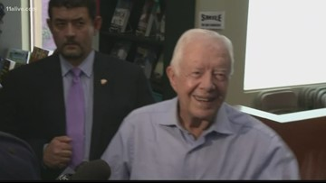 Jimmy Carter released from hospital day before Thanksgiving