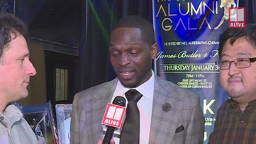 NFL Alumni hit red carpet for Super Bowl 53 in Atlanta
