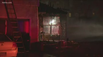 Fire rips through DeKalb home, damages others nearby