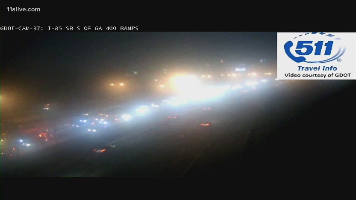 I-85 northbound closed at Ga. 400 due to police activity