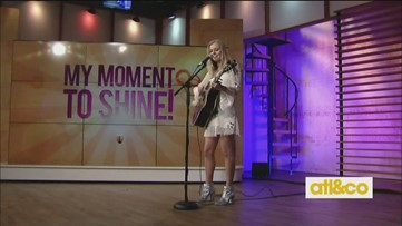 Singer/songwriter Ashley Walls performs on A&C