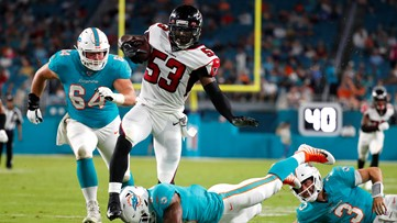 Rosen throws for 191 yards to help Miami beat Atlanta 34-27